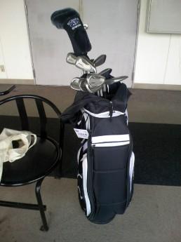 これが自分のバッグです。中古ともらい物です。