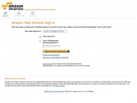 Amazon Web Services Sign In
